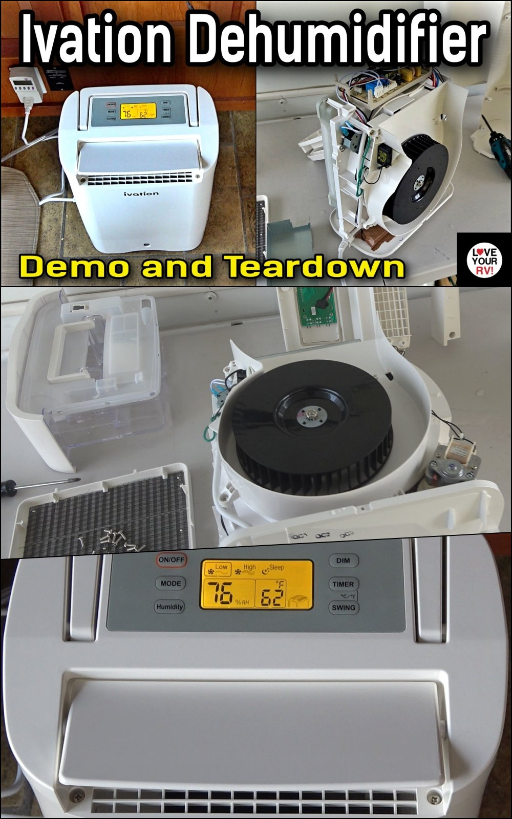 Demo and Teardown of the Ivation 19 Pint Desiccant Dehumidifier