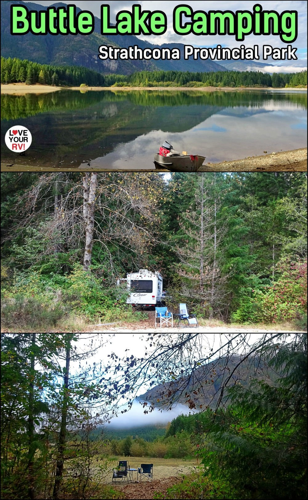 Hiking and Camping at Buttle Lake in Strathcona Provincial Park on Vancouver Island British Columbia Canada