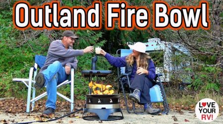 Demo and Review of our Outland Fire Bowl – Portable Propane Gas Fire Pit