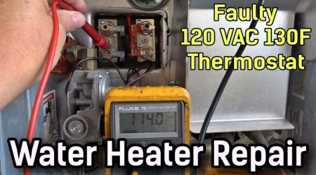RV Water Heater Not Fully Heating – Failed 130 Degree Thermostat