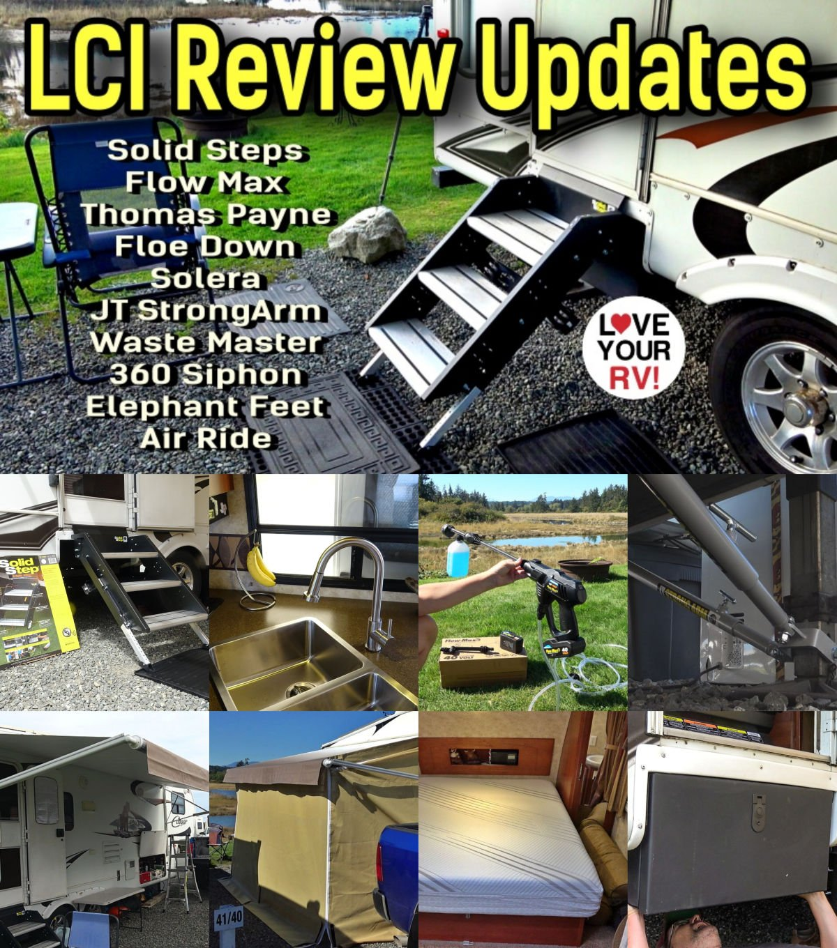 Lippert Components (LCI) RV Product Review Update Roundup from Love Your RV!