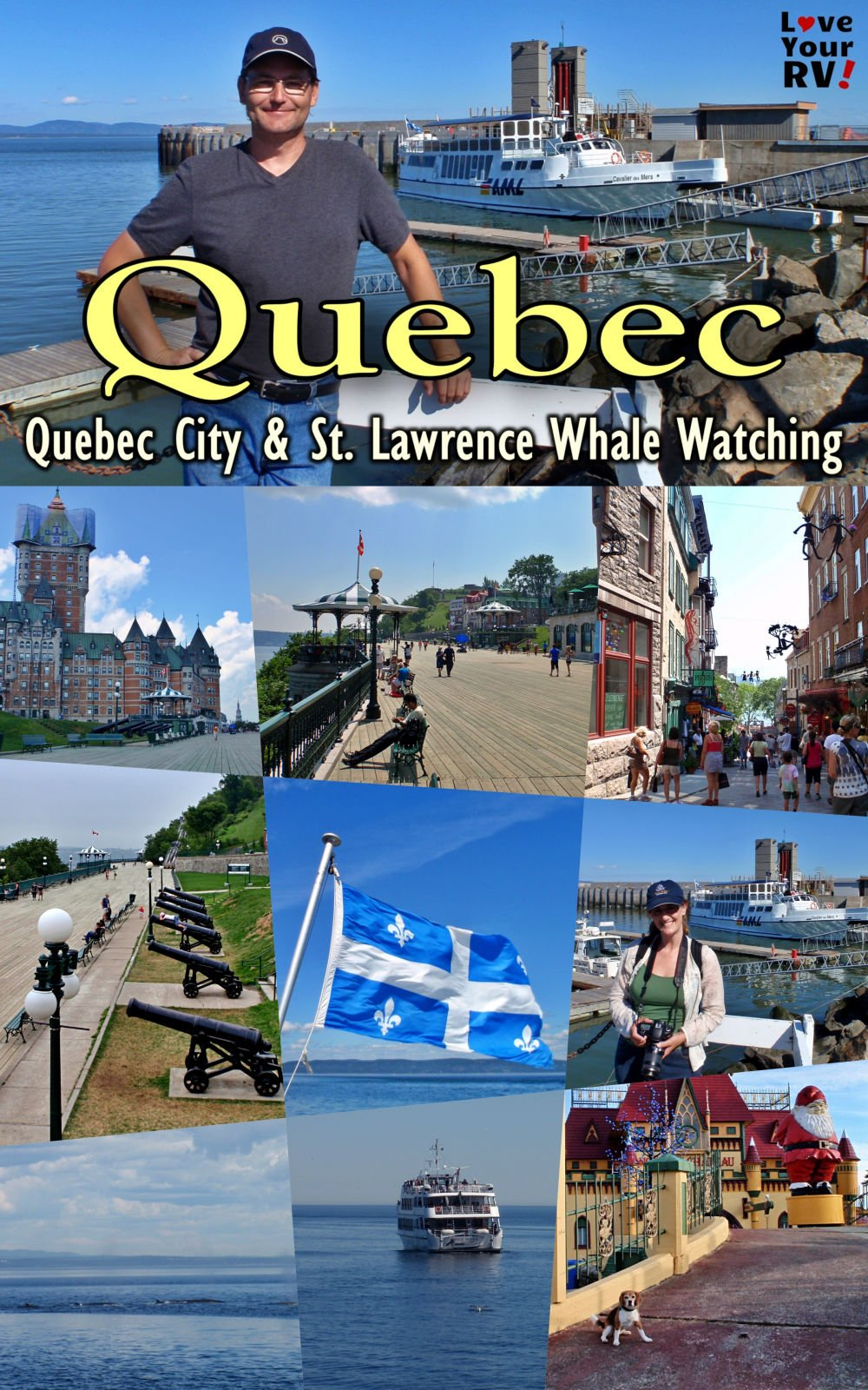 Quebec City and Whale Watching on the St Lawrence River Throwback Video July 2011