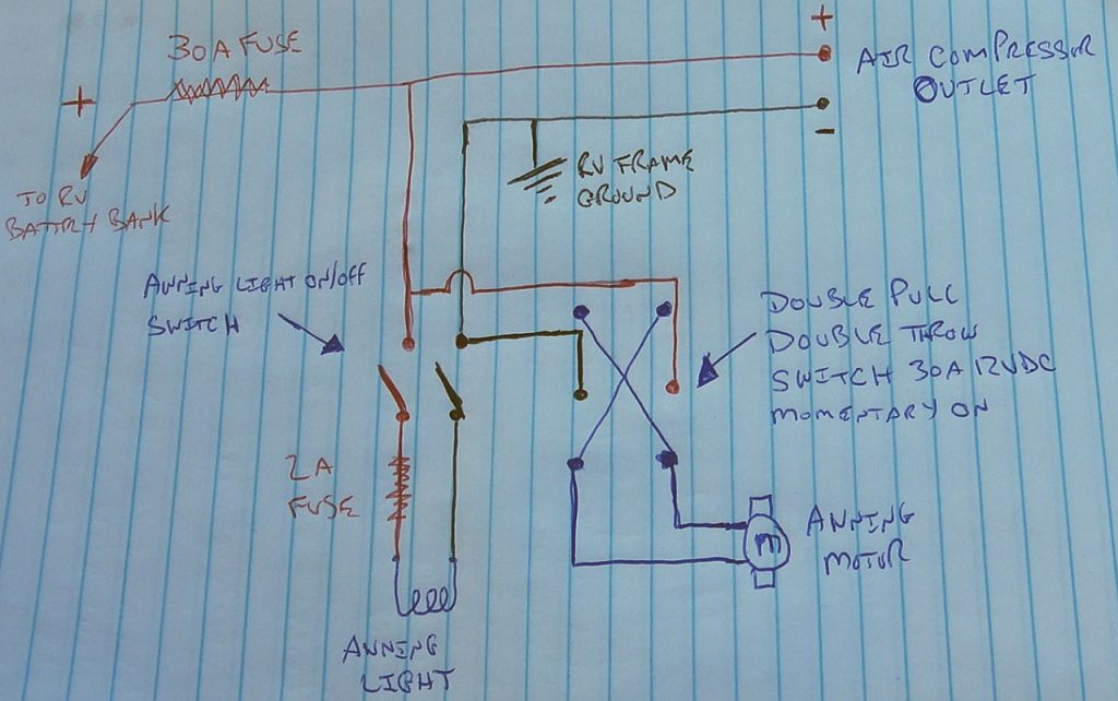 Awning Light Install Schematic