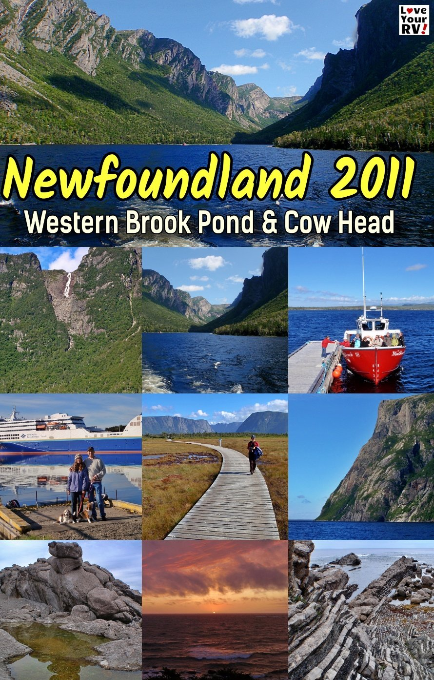 Boat Tour of Western Brook Pond and HIke out the Cow Head Peninsula Newfoundland Throwback Video Sept 2011