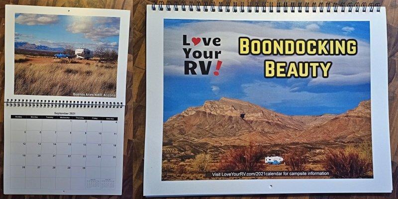 Picture of actual calendar