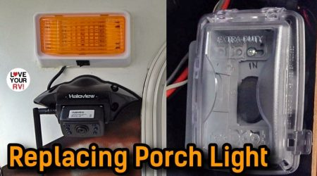 Installing LED Porch Light + Important Update on Awning Switch Mod
