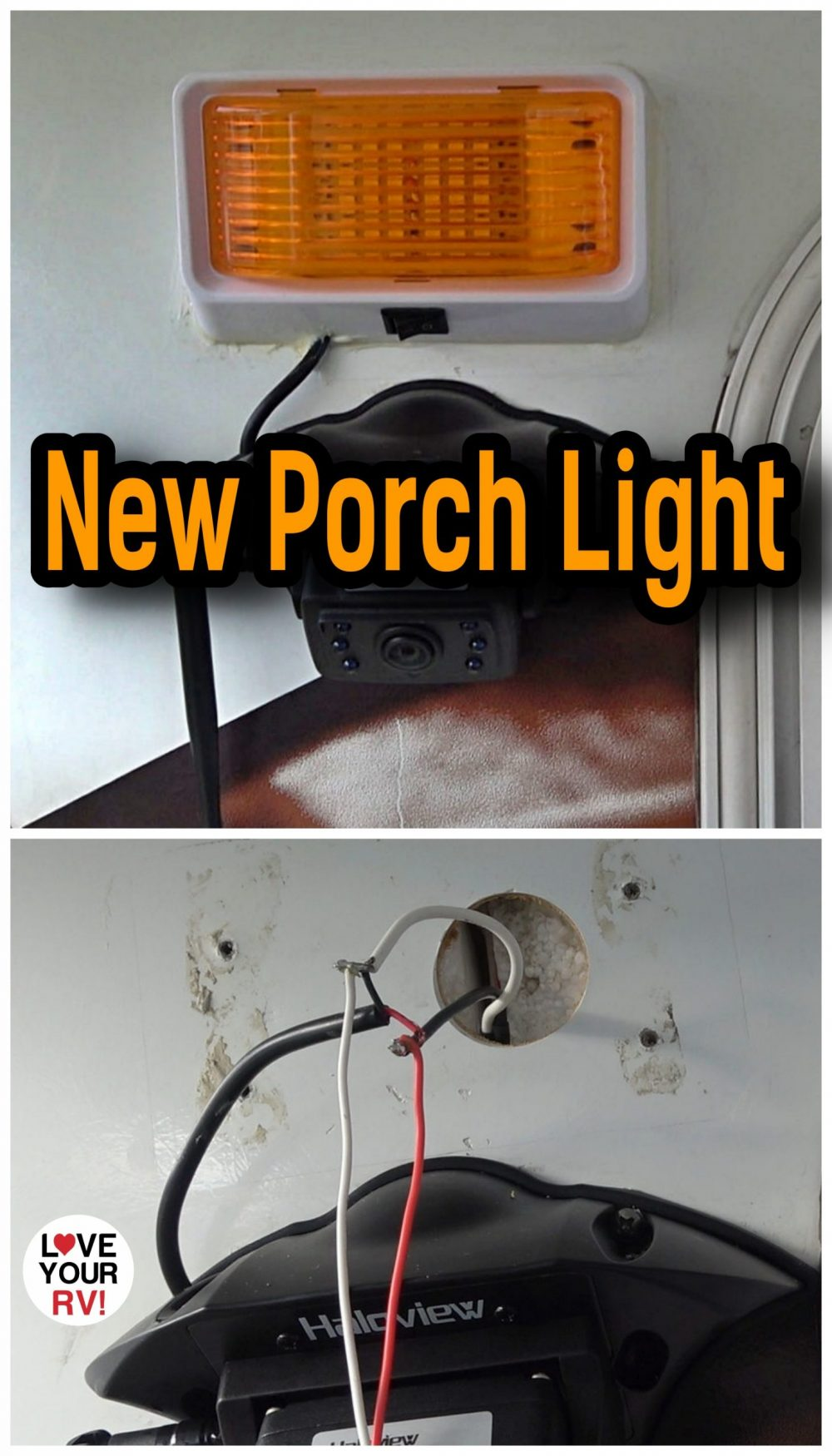 Replacing the RV Porch Light