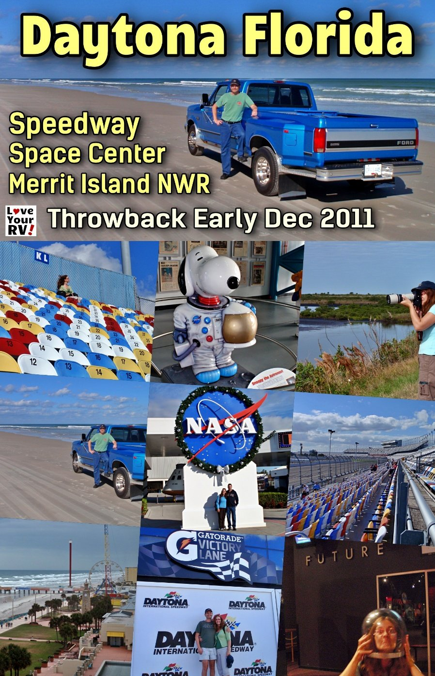 Daytona Beach, Kennedy Space Center & Merritt Island NWR - Throwback 2011