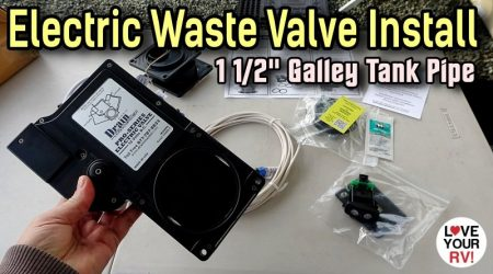 Drain Master Electric Waste Tank Valve Installation with 1 1/2″ Adapter