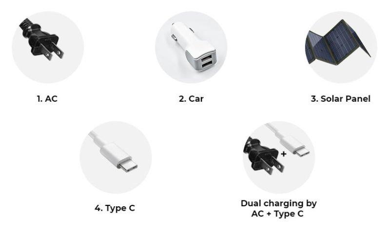 HIMCEN H740P power station charging methods
