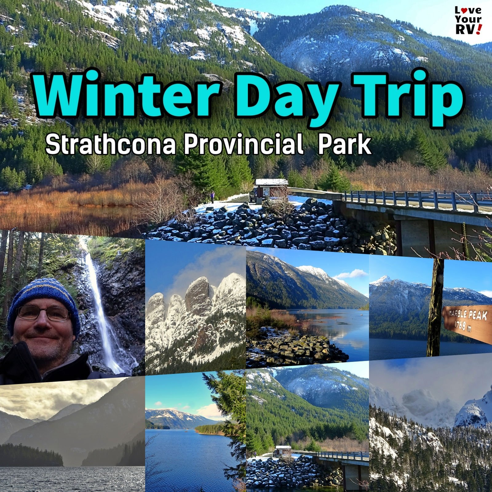 Winter day trip out to beautiful Strathcona Provincial Park on Vancouver Island British Columbia Canada