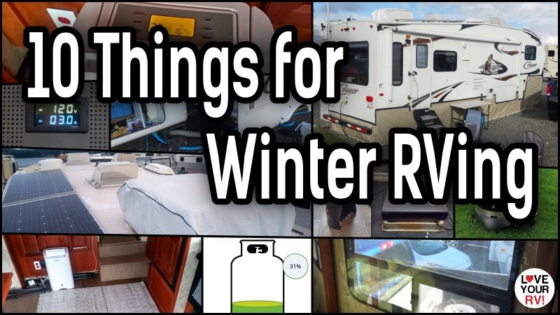 10 Things We Use for Winter RVing Feature Photo
