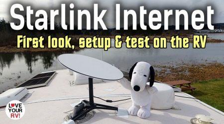 Starlink Satellite Dish Internet – First Look, Setup & Test on the RV