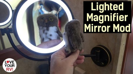 Installed a Lighted Magnifier Mirror in our RV Bathroom