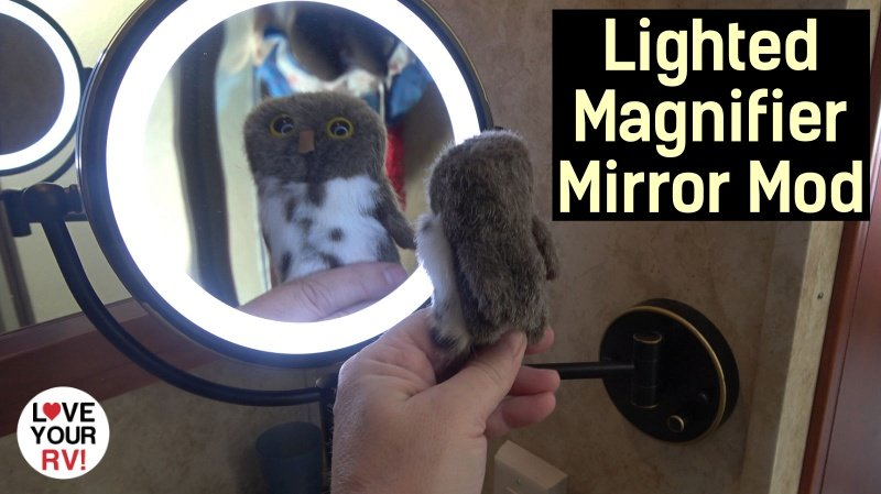 Lighted Magnifier Bathroom Mirror Feature Photo