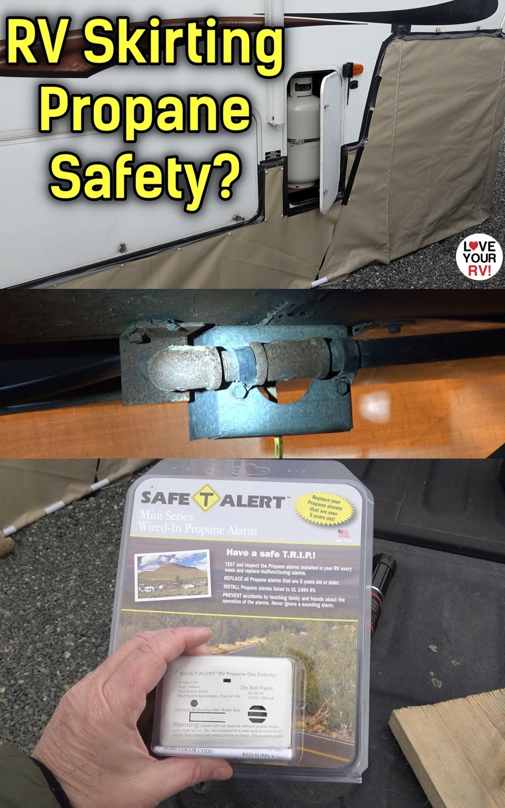 RV Winter Skirting and Propane Safety Concerns