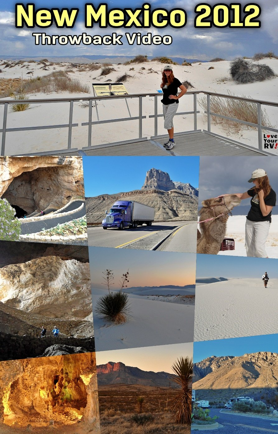 Visit to New Mexico 2012 Throwback Video Guadeloupe Mountains, NP Carlsbad Caverns, White Sands NP