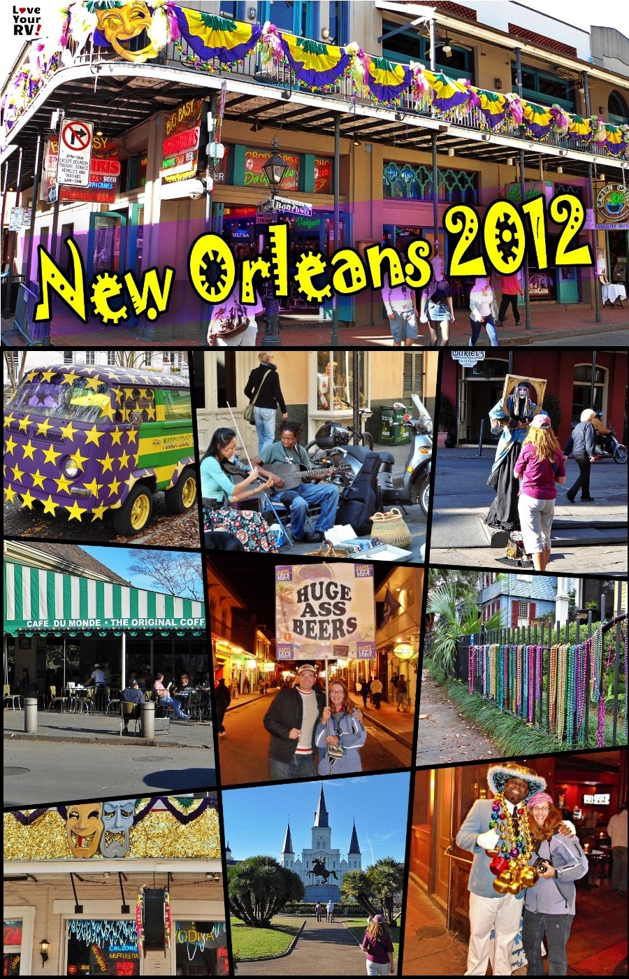 Visiting New Orleans in February 2012 LYRV Video Throwback Series