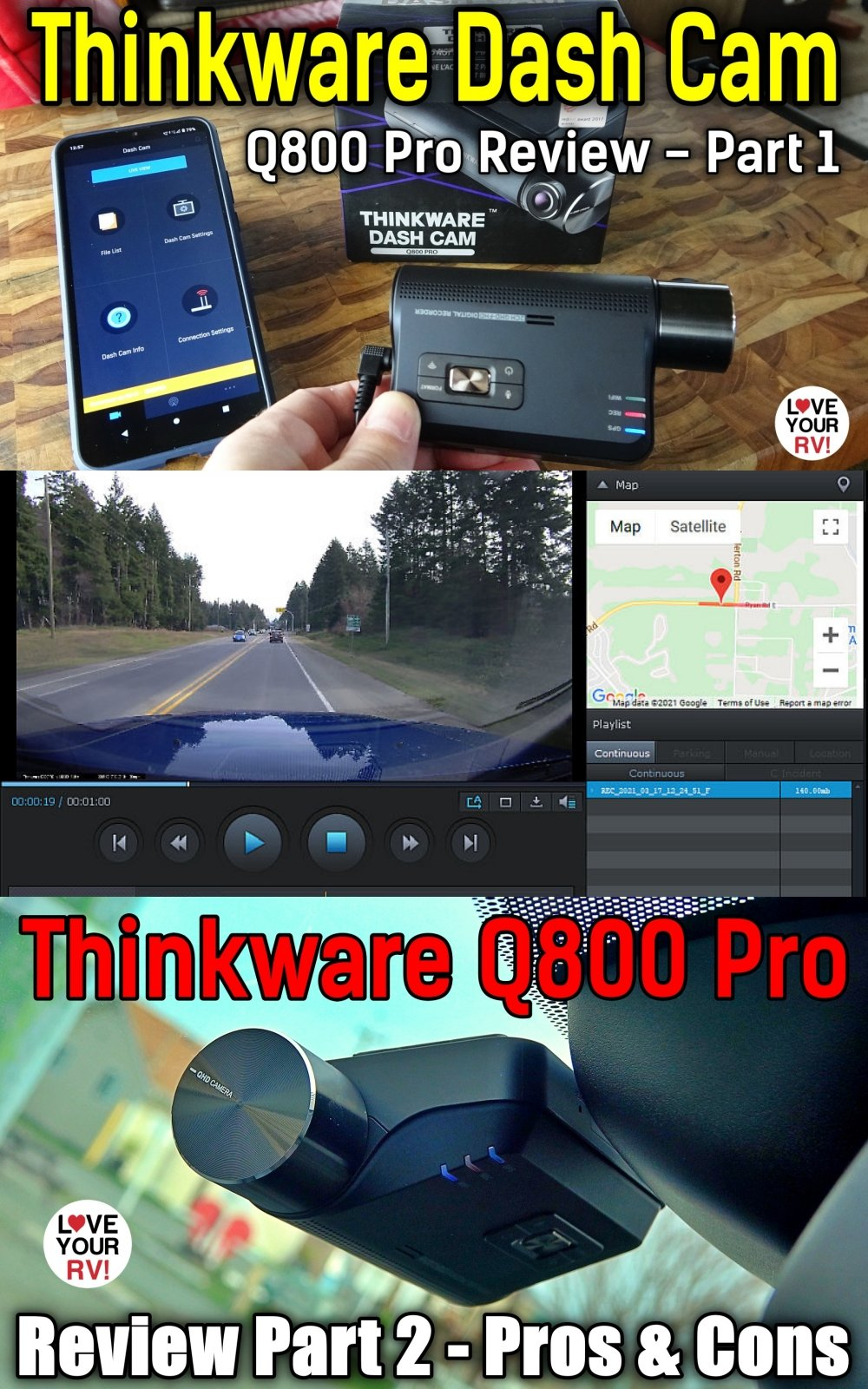 High End Dashcam Review Thinkware Cloud Q800 Pro Featuring Remote Tracking and Parking Surveillance