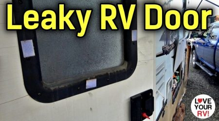 Leaky RV Entrance Door Window Repair