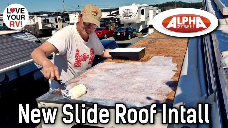 Alpha Systems SuperFlex RV Roof Membrane Installation Feature Photo
