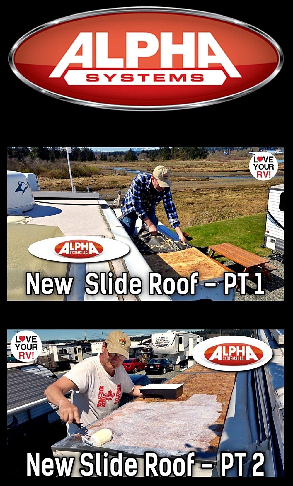 Alpha Systems SuperFlex Roof Installation - Replacing RV Slide Membrane