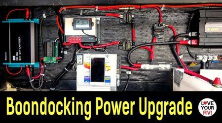 Boondocking Power Upgrade – Added Separate 500W Solar Panel Ground Array