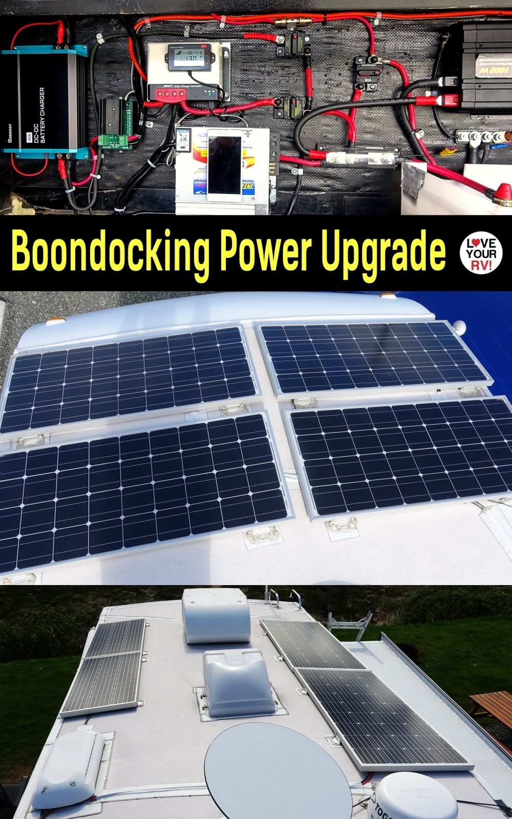RV Solar Power Upgrade - Adding Separate 500W Ground Panel Array