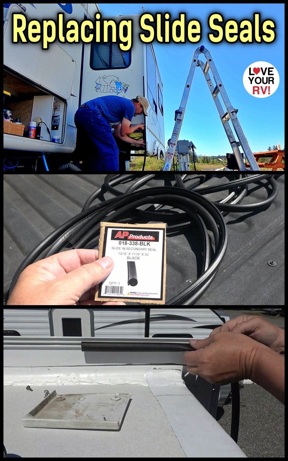 Replacing RV Slide Out Secondary Rubber Seals - Keystone Cougar Trailer 2011 276RLSWE
