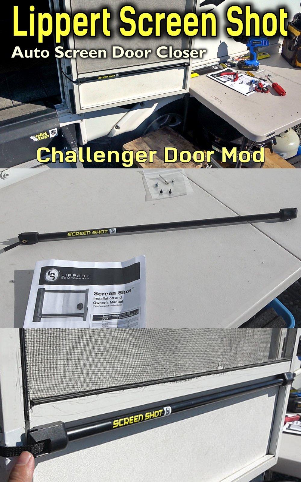 Lippert Screen Shot RV Door Closer Installation including Mod for my Challenger Door