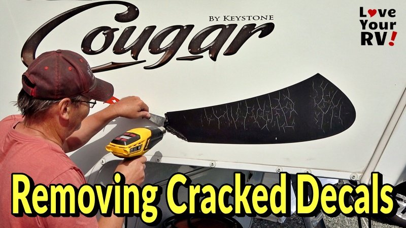 Removing Cracked Fade RV Graphics Feature Photos