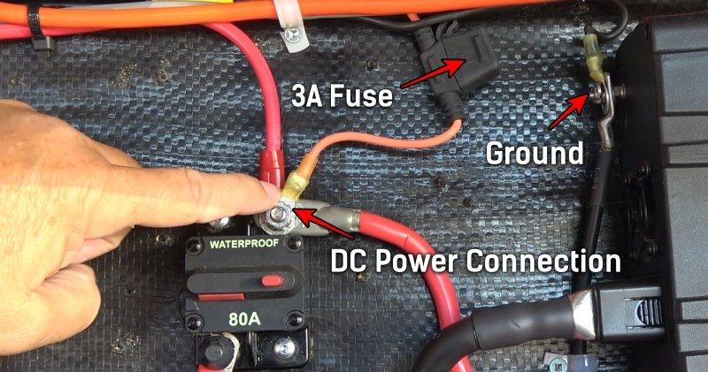 12V power hook up