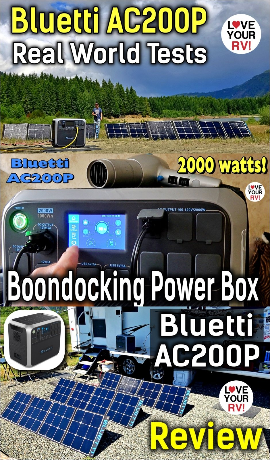 LYRV Review of the Bluetti AC200P portable power station Real World tests demos pros cons and opinion