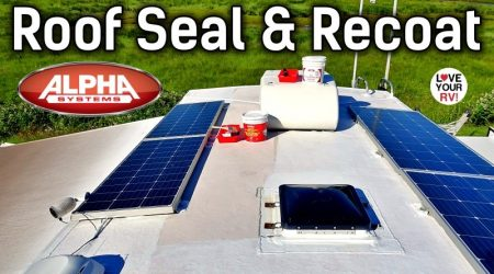 RV Roof Reseal and Refresh – Alpha Systems Top Coat, Lap Sealant, and Roofing Tape