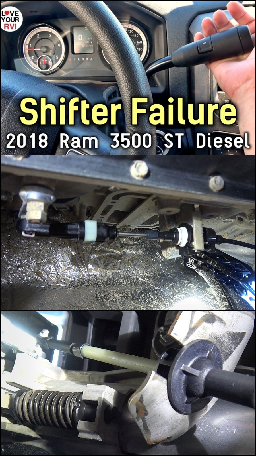 Shifter Cable Failure on Ram 2018 ST 3500 Cummins Pickup Truck