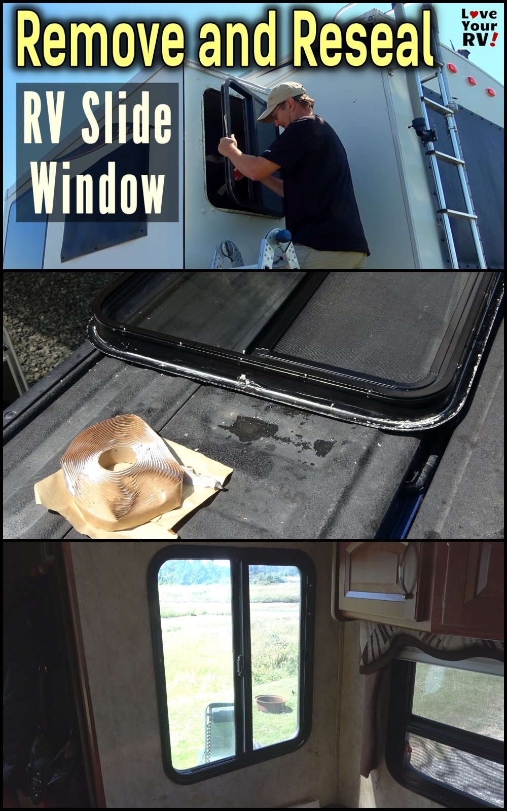 Removing and Resealing an RV Slide Out Window