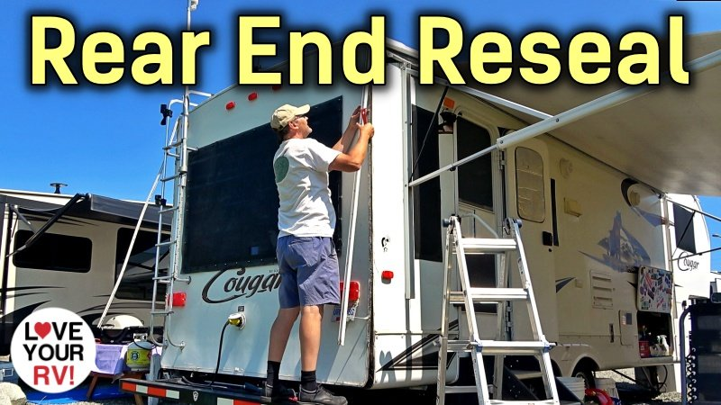 Resealing the Bum End of the Old Cougar Trailer Feature Photo