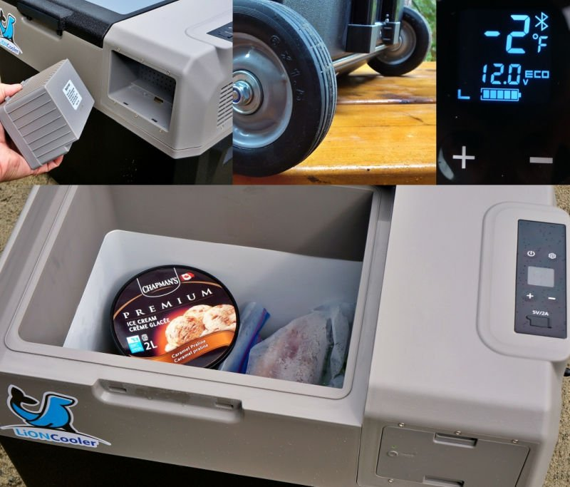 ACOPOWER LiON Cooler Solar Freezer Review Collage