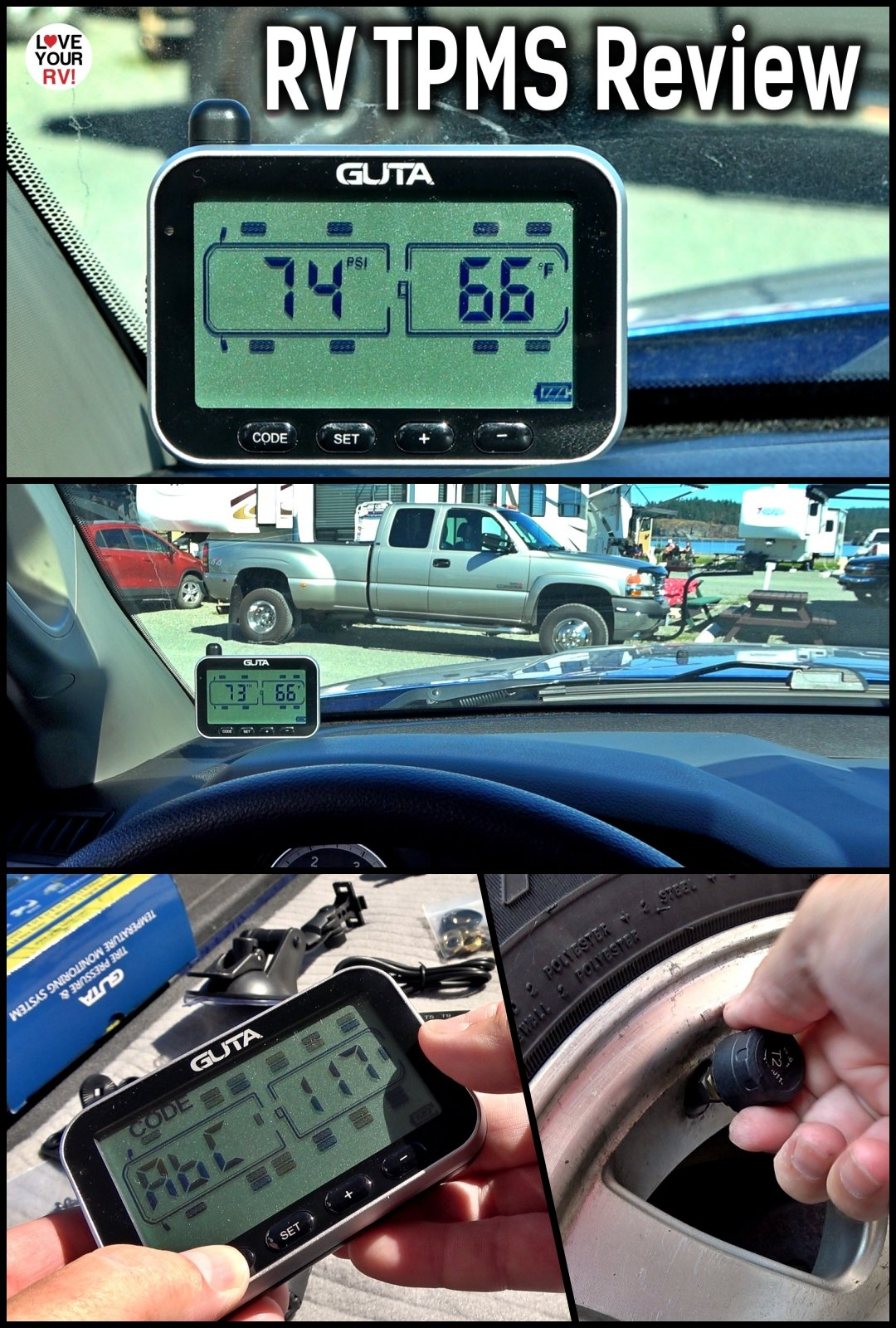 Guta Wireless RV Tire Pressure Monitoring System Installation Demo and Review