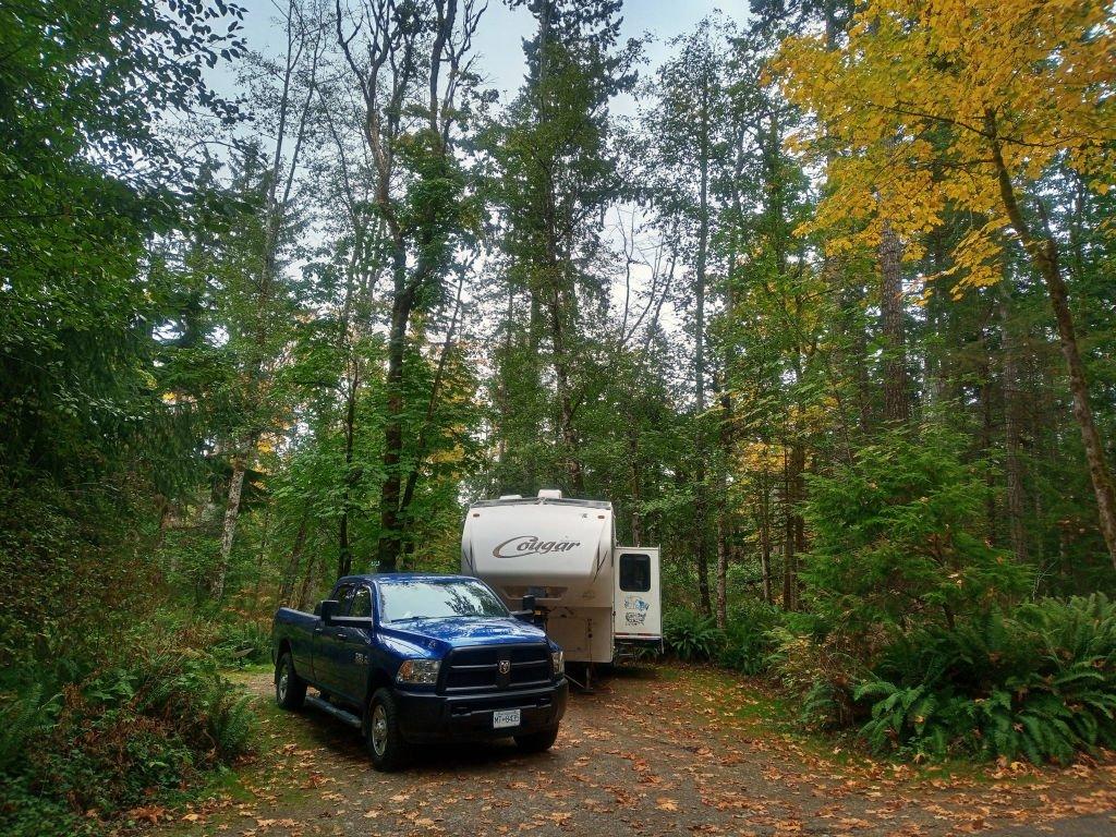 Campsite 21 Miracle Beach Provincial Park