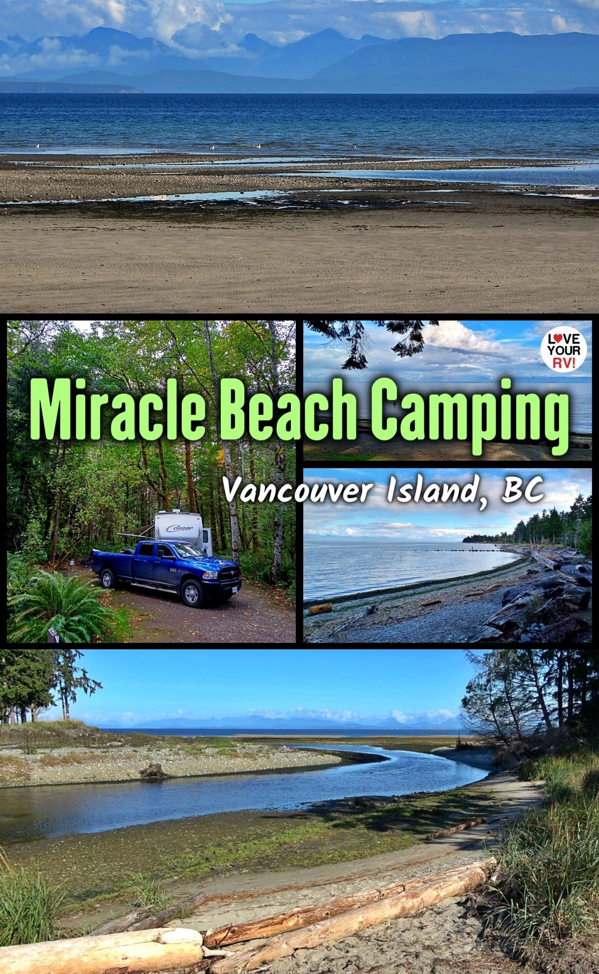 Exploring Miracle Beach Provincial Park Campground Trails and Beach - Vancouver Island British Columbia Canada