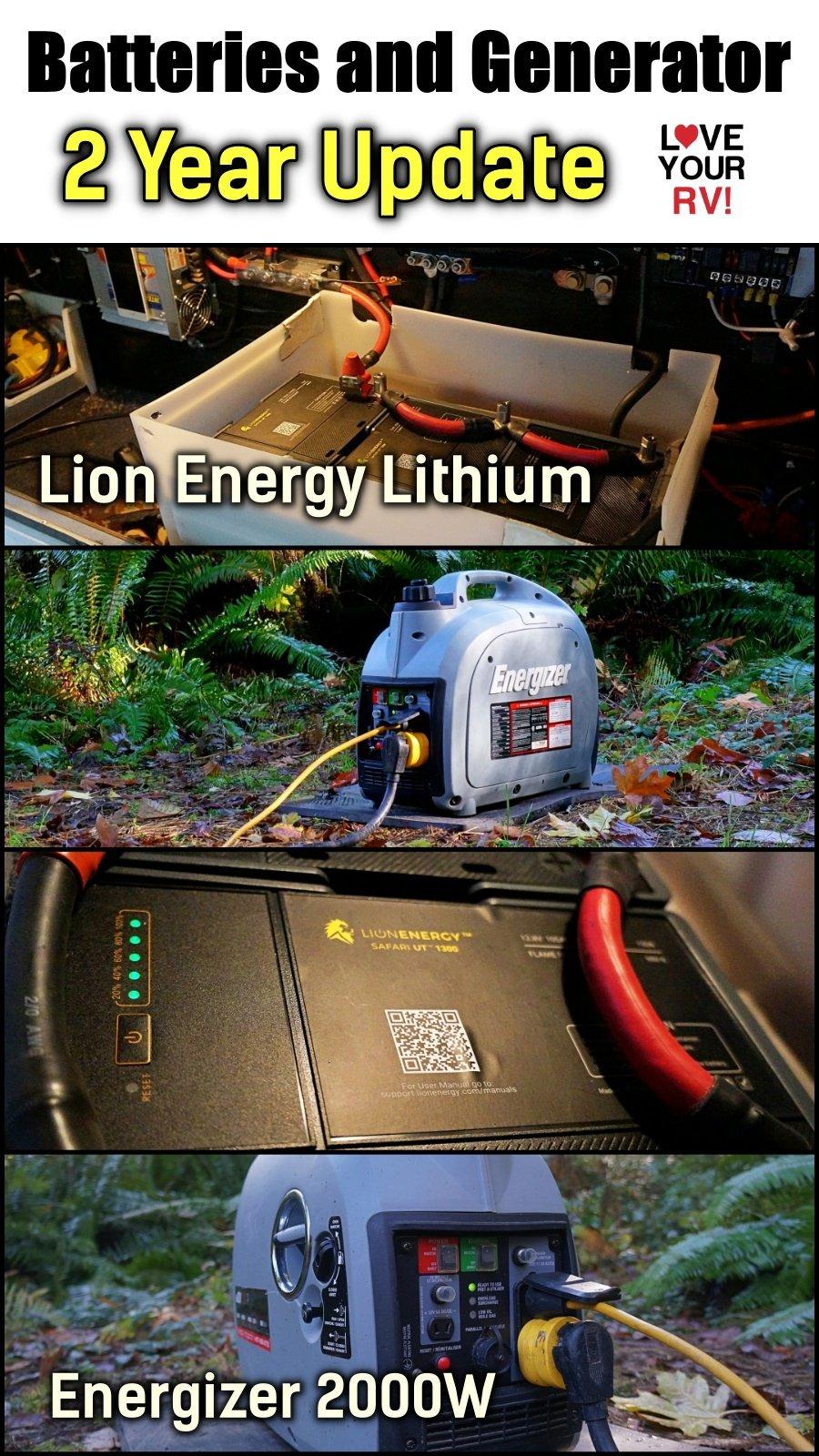 Lion Energy Safari UT1300 Lithium Batteries and Energizer 2000W Generator - 2 Year Review Update Video